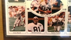 1994 Cleveland Browns Commemorative Top Stars & Prospects Plaque 12x15