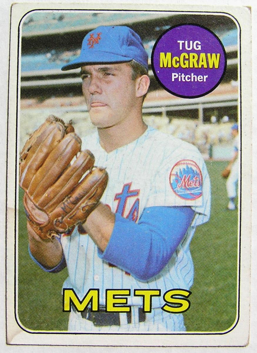 1969 Topps 601 Tug Mcgraw New York Mets Vg