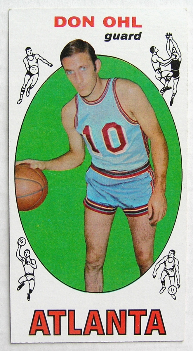 1969 70 Topps 77 Don Ohl Atlanta Hawks EX MT