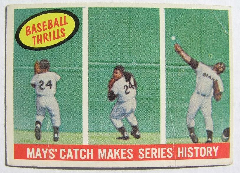 1959 Topps #464 Wille Mays Catch San Francisco Gia