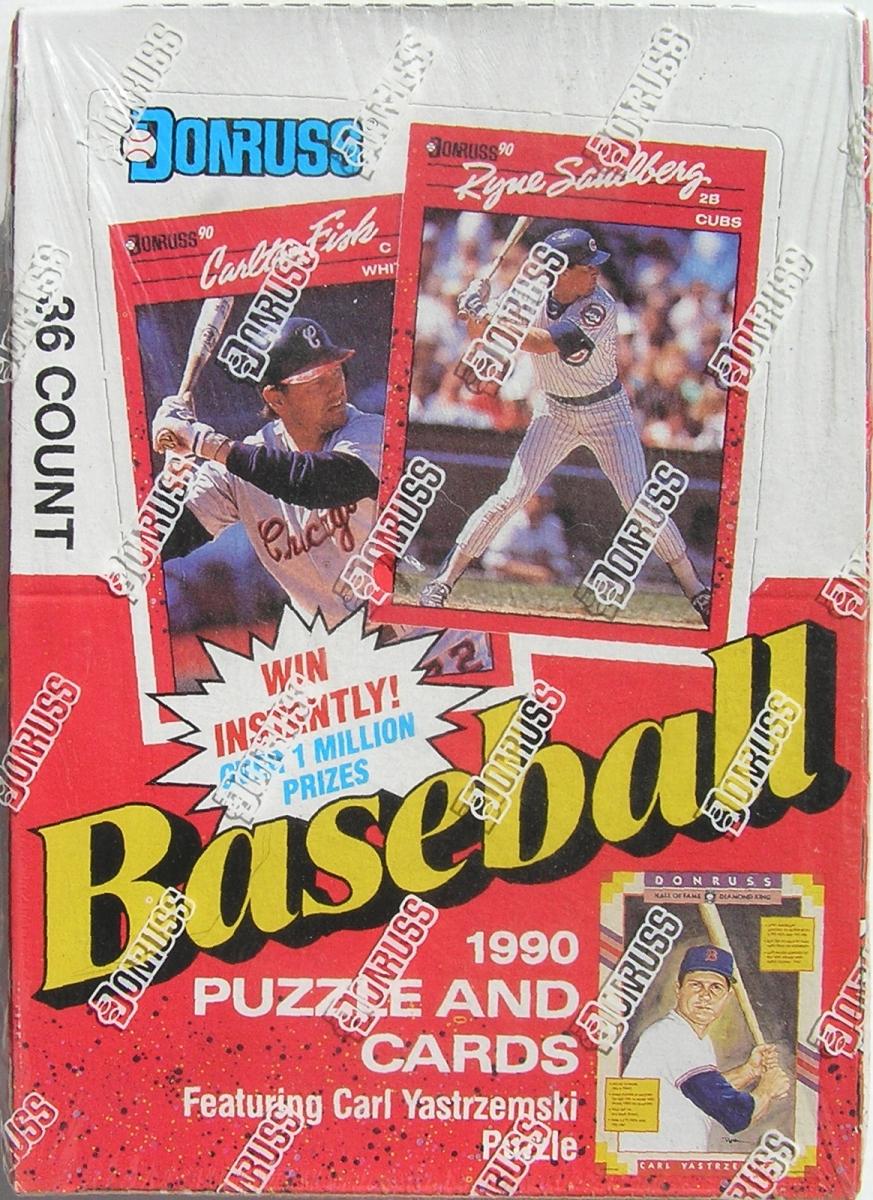 1990 Donruss Baseball Complete Unopened Box